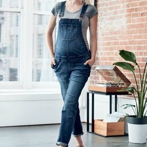Maternity jean overalls by Thyme XS